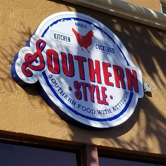 Southern Style Kitchen & Cocktails Logo on outside of the building