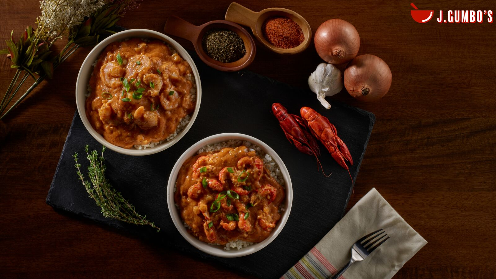 Etouffée Bowls: Choose Crawfish, Shrimp, Or Spinach & Mushroom Slowly Smothered In Our Golden Roux With Celery & Onion Then Seasoned With Black, White & Red Pepper