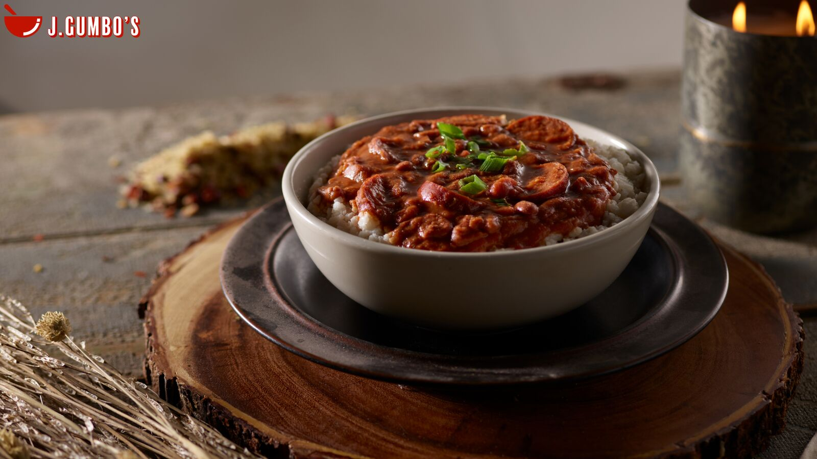 Red Beans & Rice: Creamy, Slow-Cooked Camellia Beans With Yellow Onion, Smoked Sausage And Cajun Seasonings