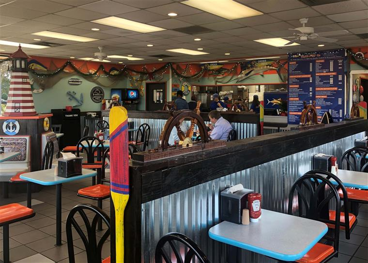 Inside view of the Carolina Fish Fry Garner location