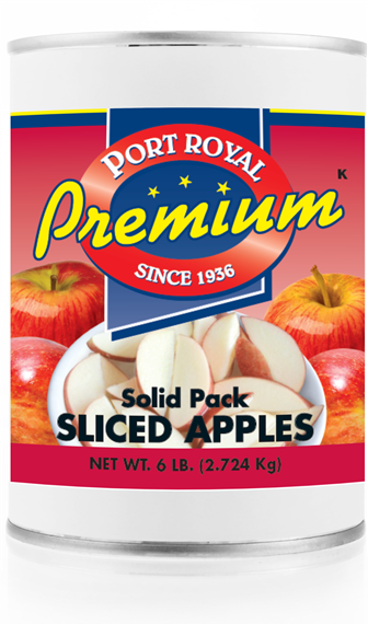Canned Solid Pack of Sliced Apples
