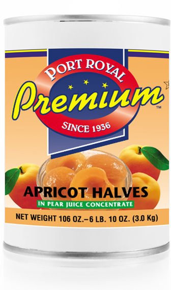 Canned Apricot Halves in Pear juice concentrate