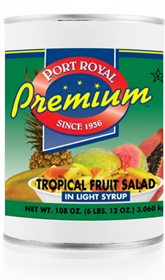 Canned tropical fruit salad in light syrup