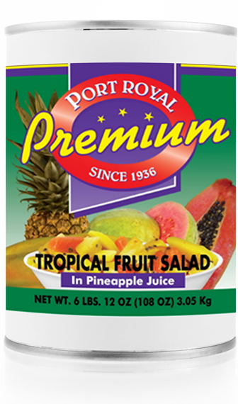 Canned tropical fruit salad in pineapple juice