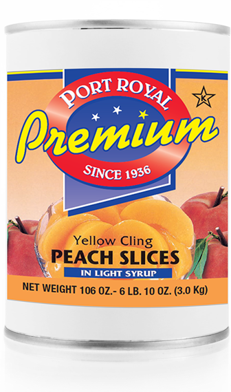 Canned yellow cling peach slices in light syrup