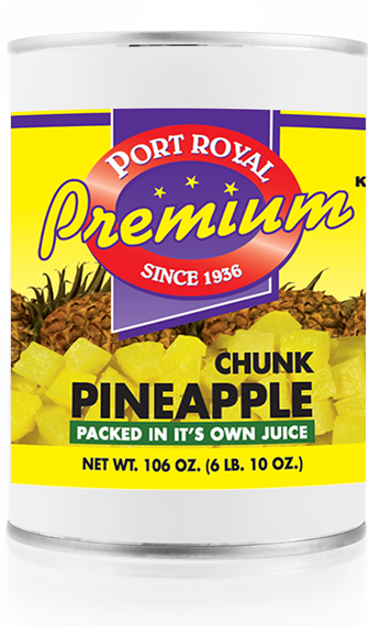 Canned chunk pineapple packed in it's own juice