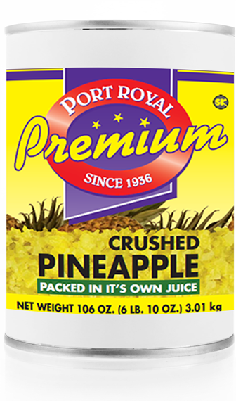 Canned crushed pineapple packed in it's own juice