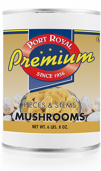 Canned Pieces & Stems of Mushrooms