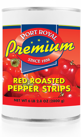 Canned Red Roasted Pepper Strips