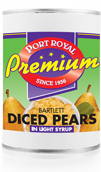 Canned Bartlett Diced Pears in Light syrup