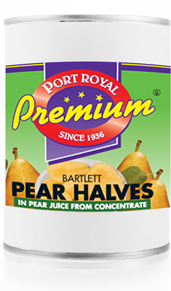 Canned Bartlett Pear Halves in Pear Juice