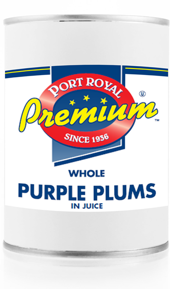 Canned Whole Purple Plums in juice