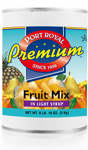 canned Fruit mix in light syrup
