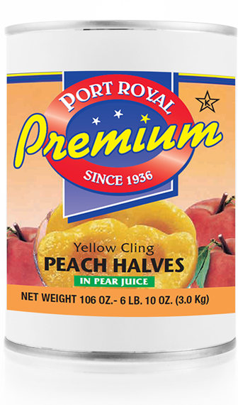 canned Yellow Cling Peach Halves in pear juice