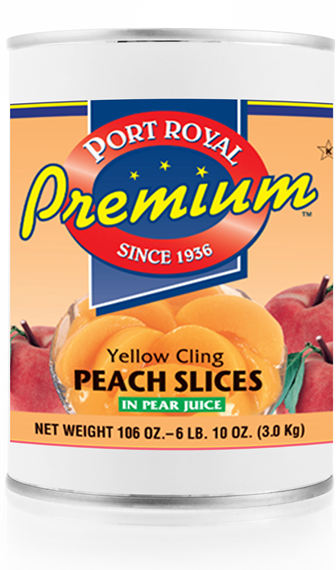 canned Yellow cling Peach Slices in pear juice