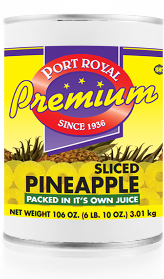 canned sliced pineapple packed in it's own juice