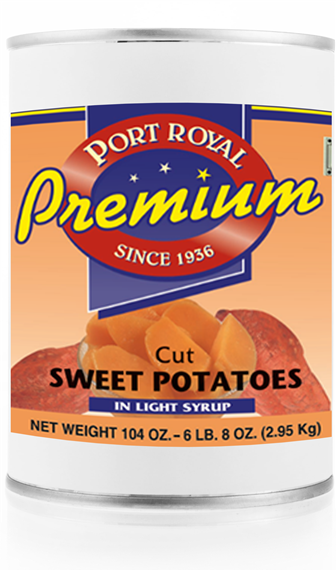 canned Cut Sweet Potatoes in light syrup