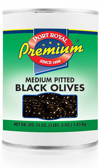 canned Medium Pitted Black Olives