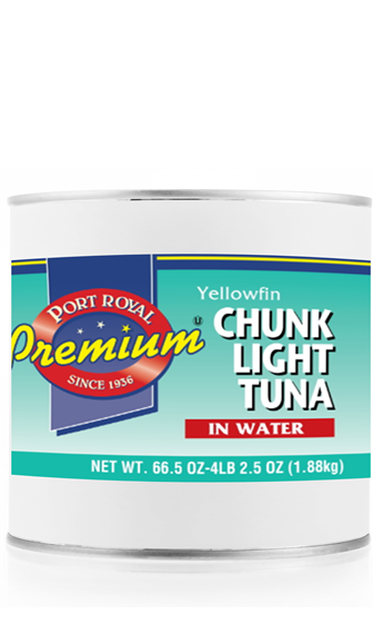 canned Yellowfin Chunk Light Tuna in water