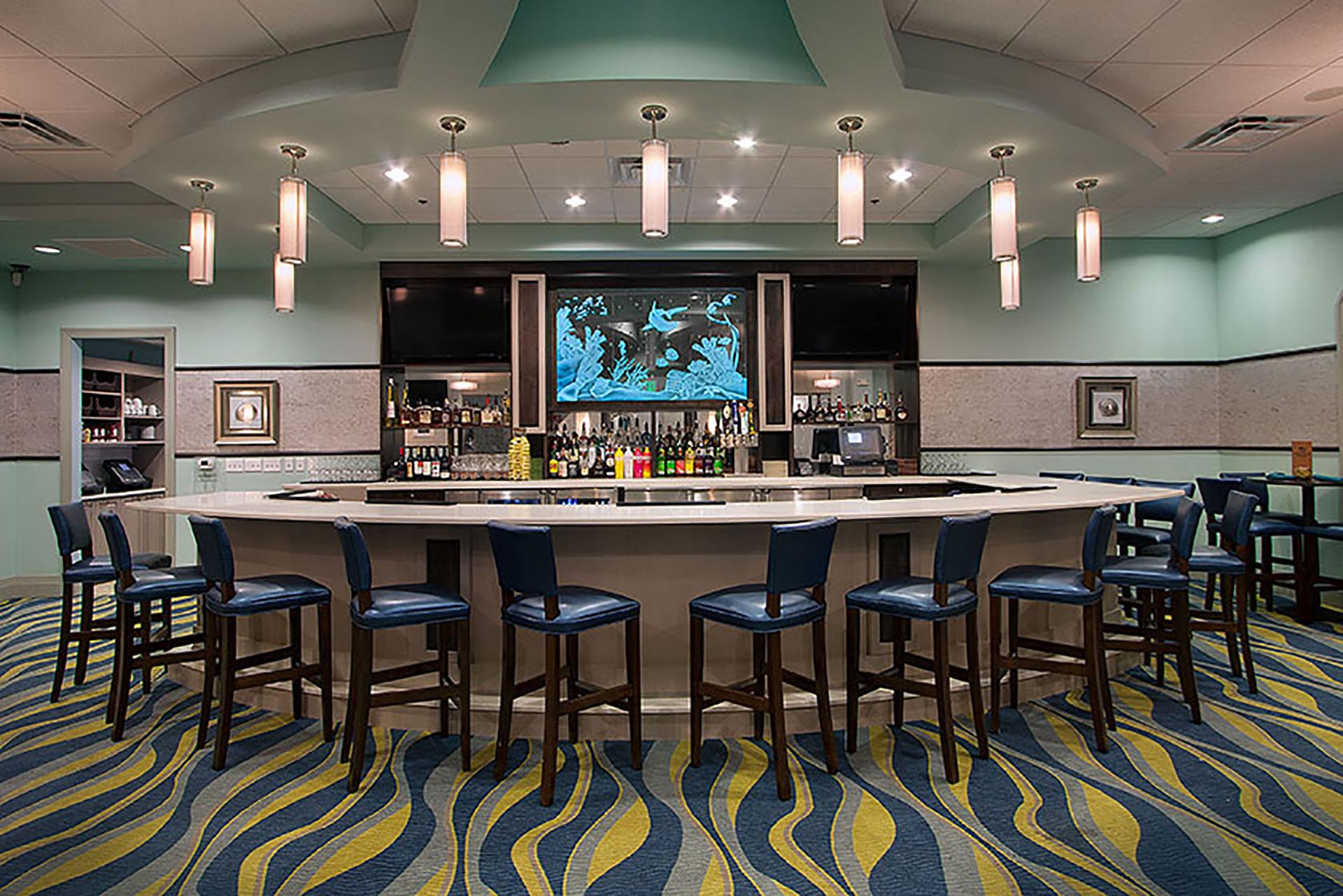 The Grille Room Bar with high top stools