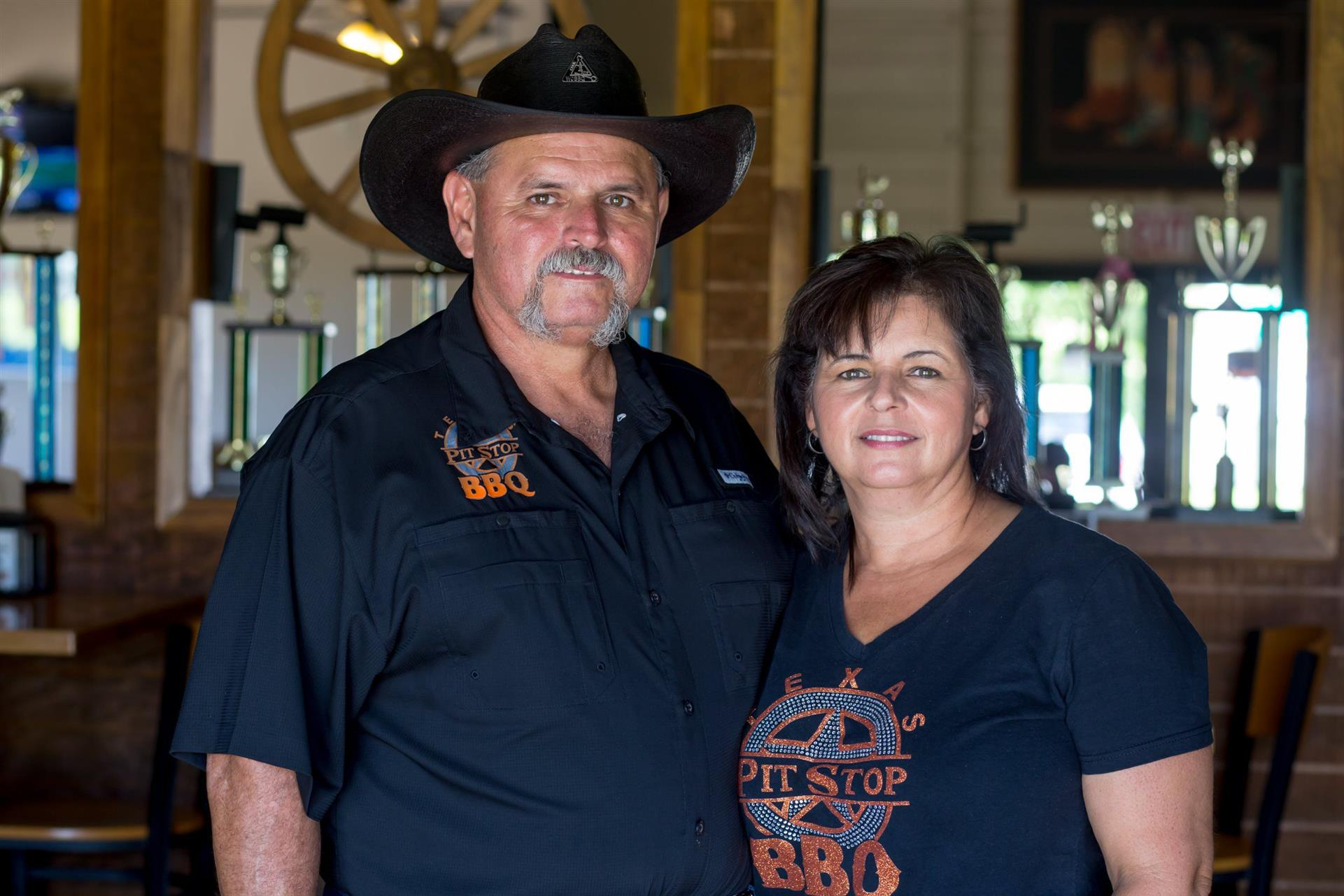 Owners Arnold Garza & Valerie Johnson
