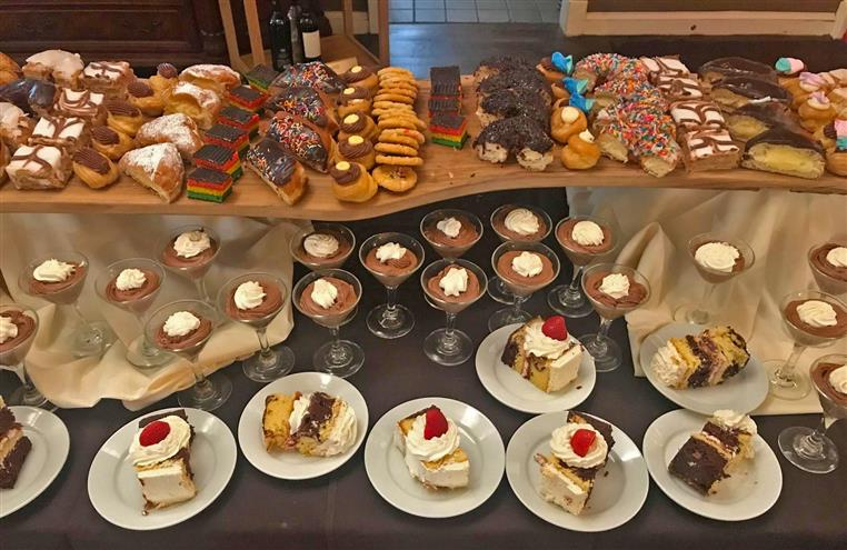 assortment of desserts on a table