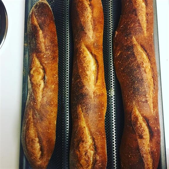 3 loafs of French bread