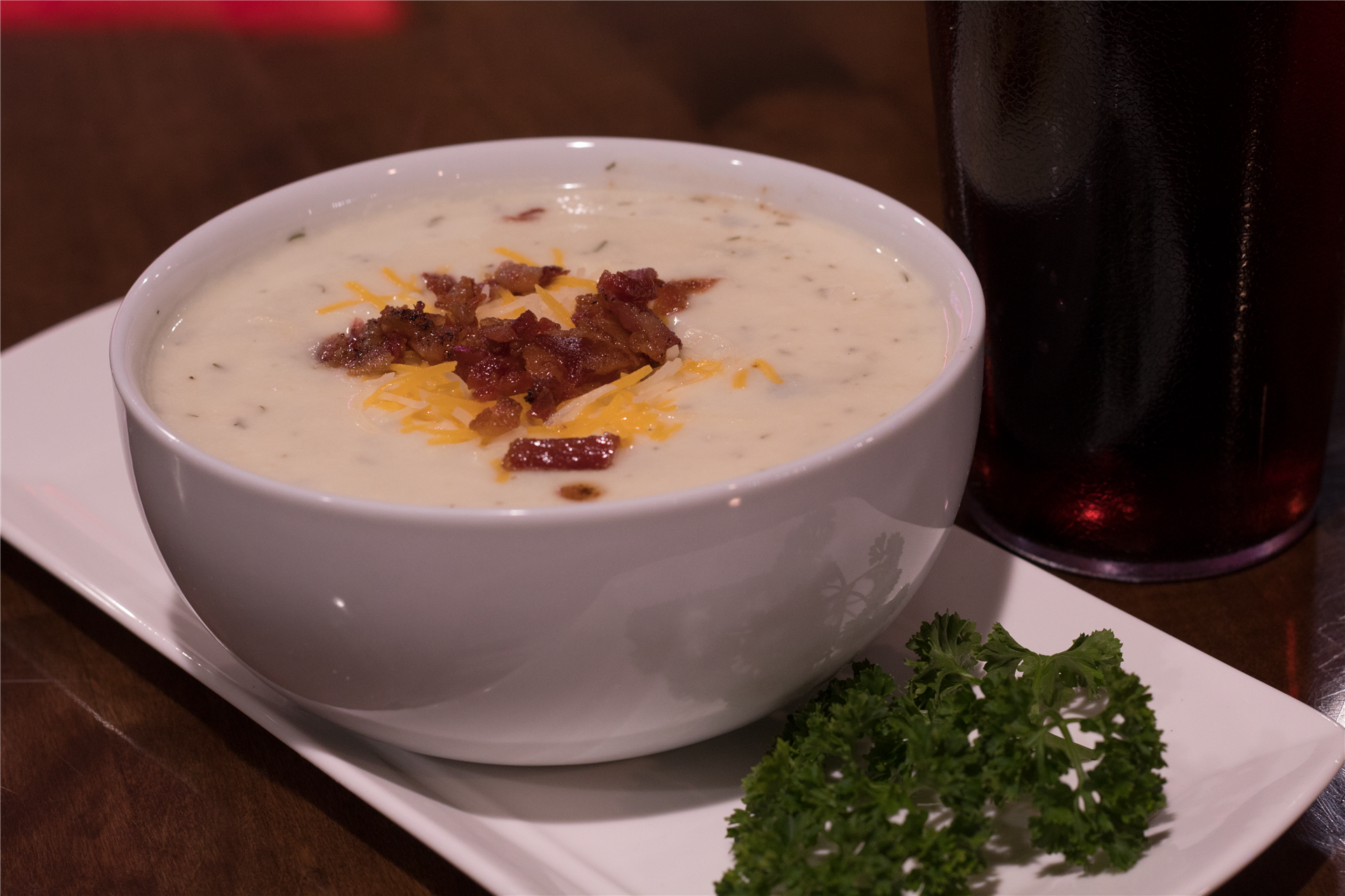 chowder with cheese and bacon