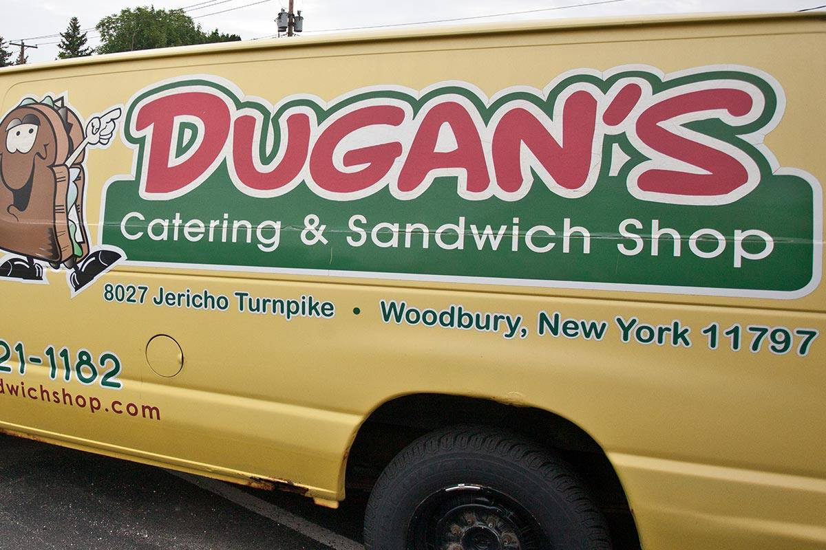 dugan's sandwich shop catering van