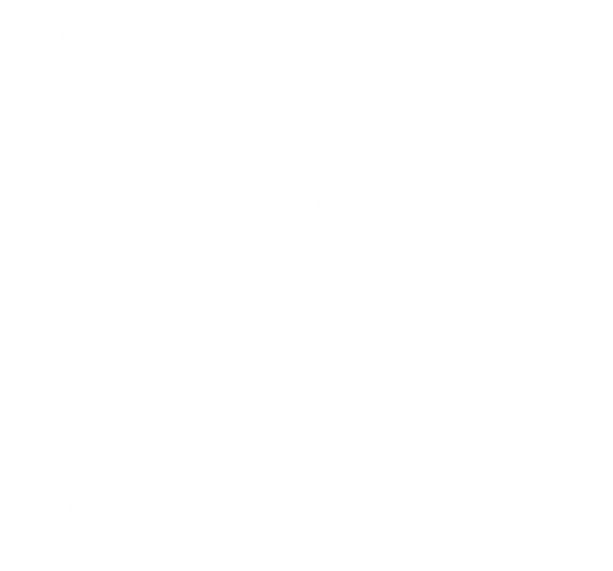 cartoon image of Fork and knife crossed