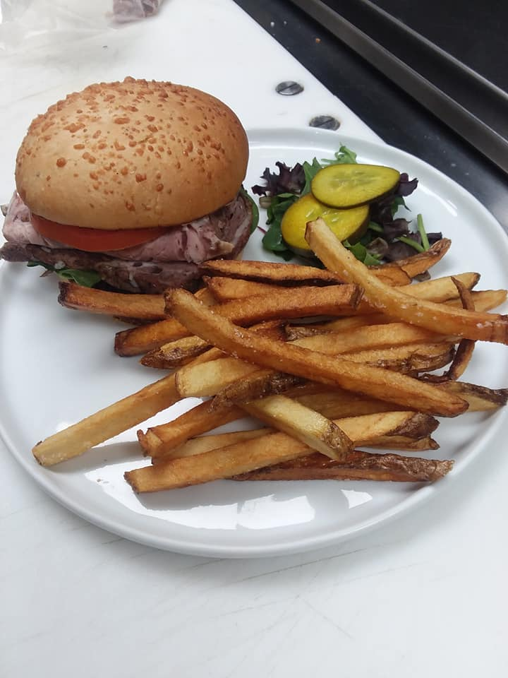 Classic Hamburger: local certified angus beef made daily with a side of our hand cut fries