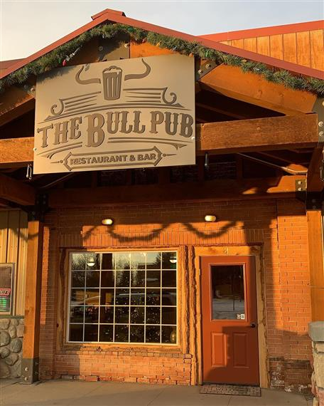 front entrance of the bull pub restaurant and pub