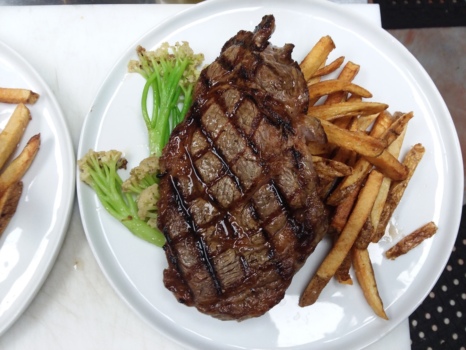 ribeye steak special with french fries