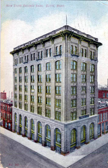 Vintage illustration of the original building