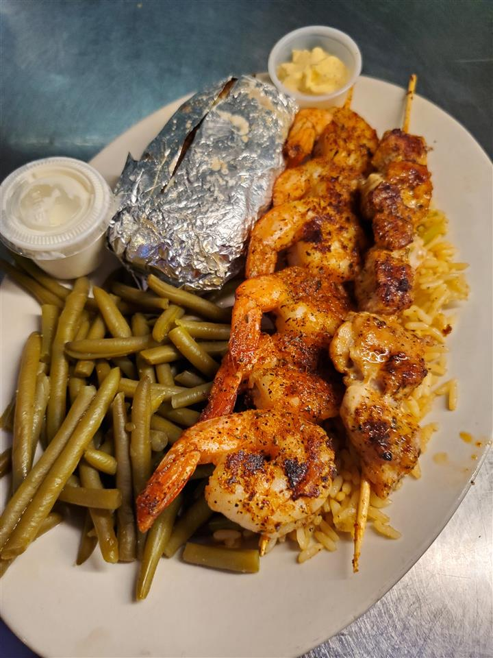 BLACKENED SHRIMP + GATOR