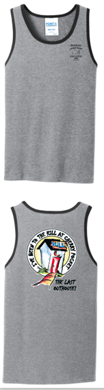grey tank top with black