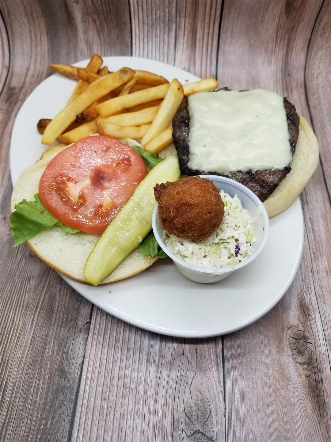 All American Burger with Regular Fries