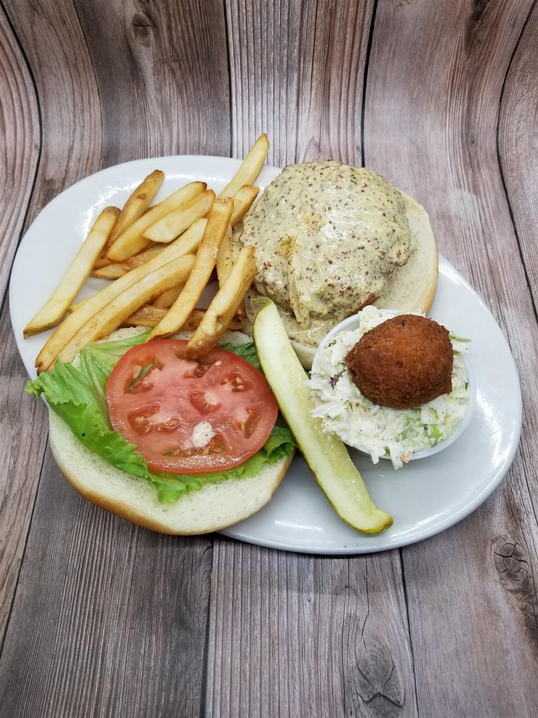 Lunch Crab Cake Sandwich with Regular Fries