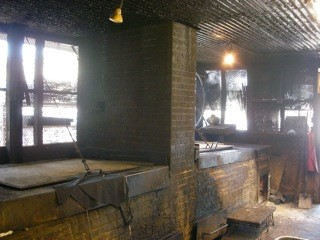 The BBQ pit while under construction