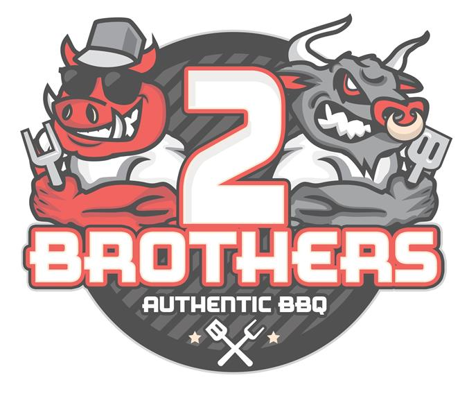 2 Brothers authentic bbq logo
