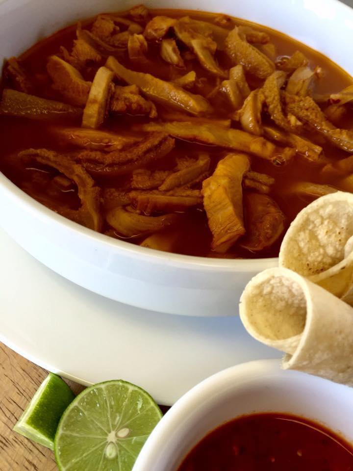 Spicy chicken and tortilla soup