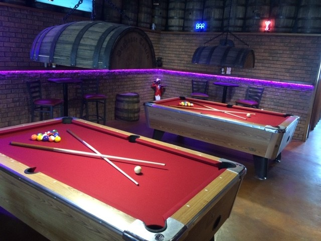 2 pool tables