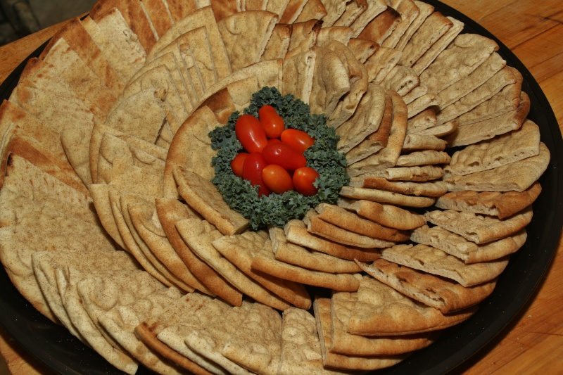 A platter filled with various cracker options