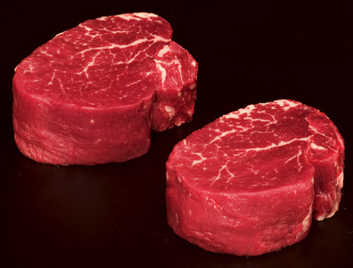 2 cuts of Tenderloin Beef
