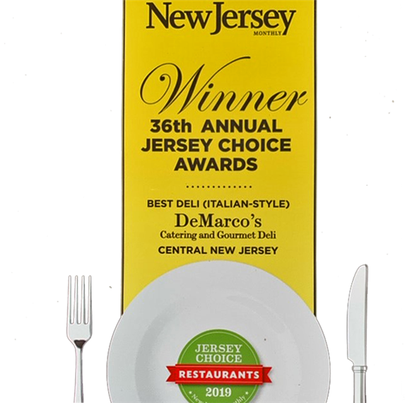 New Jersey Winner 36th Annual Jersey Choice Awards. Deli (Italian-Style) DeMarco's Catering and Gourmet Deli Central New Jersey. Jersey Choice Restaurants 2019