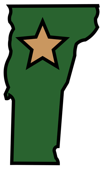 Vermont with a star in the center