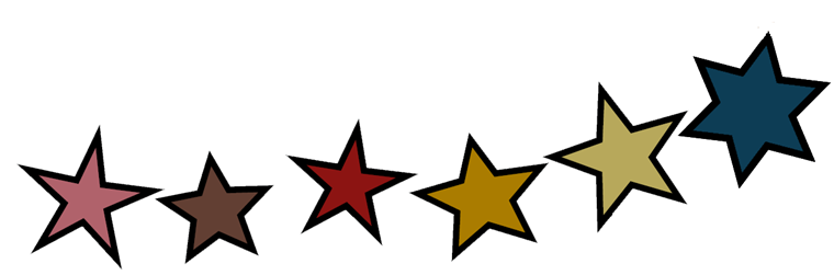 assorted decorative stars