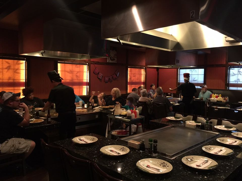 interior of Wasabi Steakhouse hibachi room