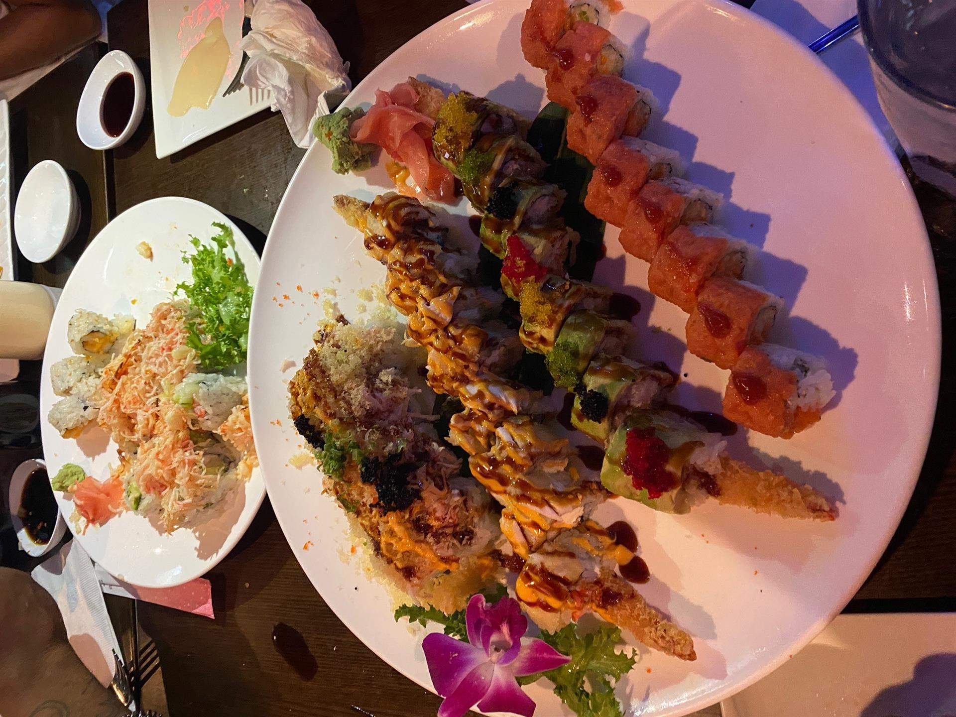 variety of sushi roll