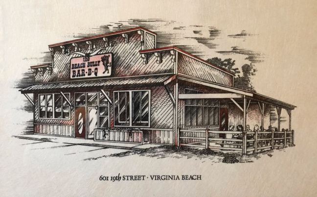 Illustration of The BEach Bully Bar-B-W